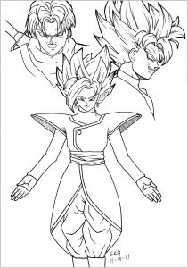 Dragon Ball Z Goku Coloring Pages Printable
