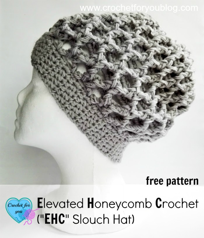 Panal elevada ganchillo (EHC Slouch sombrero) - patrón libre