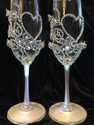 Wedding Champagne Glasses,Toasting Flutes,Glass Crystal