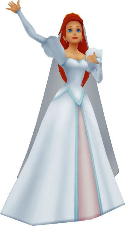 Image   Ariel (Wedding Dress) KHII.png   Disney Wiki