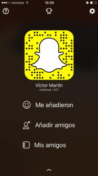 Víctor Martín en Snapchat