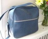 Blue Faux Leather Travel Bag