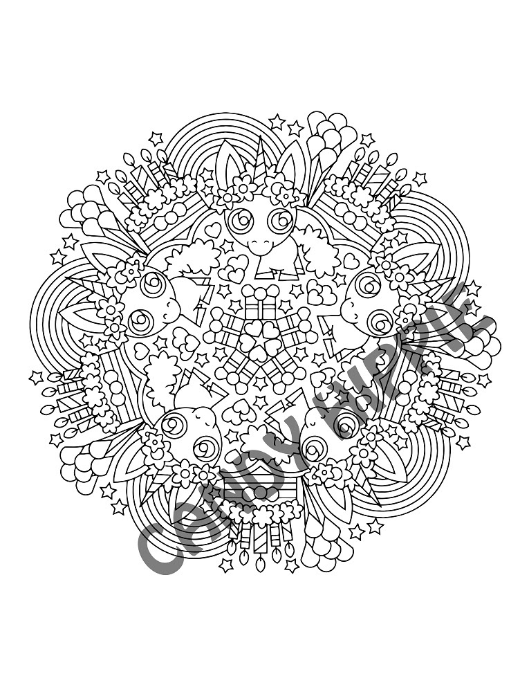 Unicorn Coloring Pages Pdf at GetColorings.com | Free ...