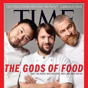 """Capa da revista """"Time"""" com os chefs Alex Atala, René Redzepi e David Chang"""