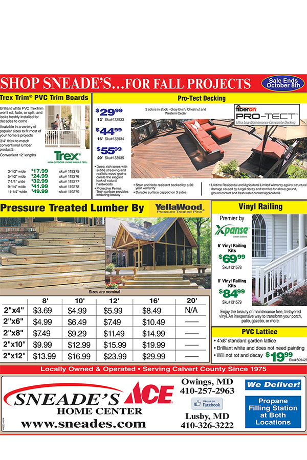 Huge Lumber Sale Get Your Home Improvements Projects Done For Fall Sneades Ace Home Centers