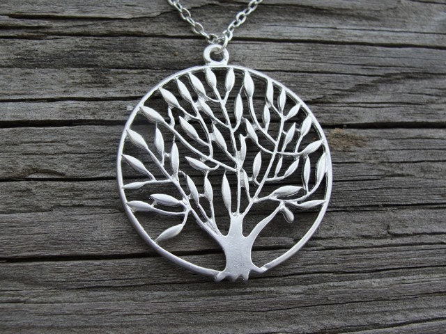 Silver Organic Tree Pendant