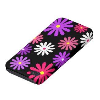 Modern Daisy iPhone 4 Case in Black