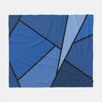 Abstract Blue Polygons