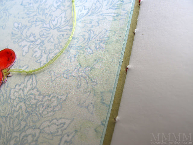 water distressing on patterned paper printed from  inkjet paper