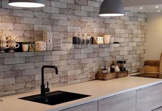 Dekorasi Desain Dapur Batu Alam Terbaru