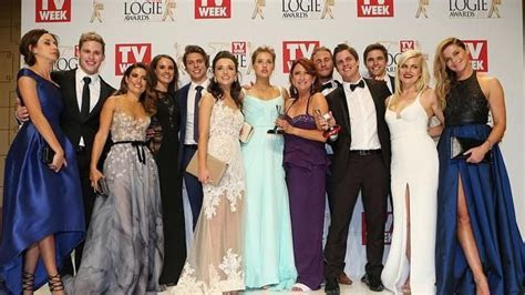 H&A cast at the logies   Home and Away (Belinda Ashford