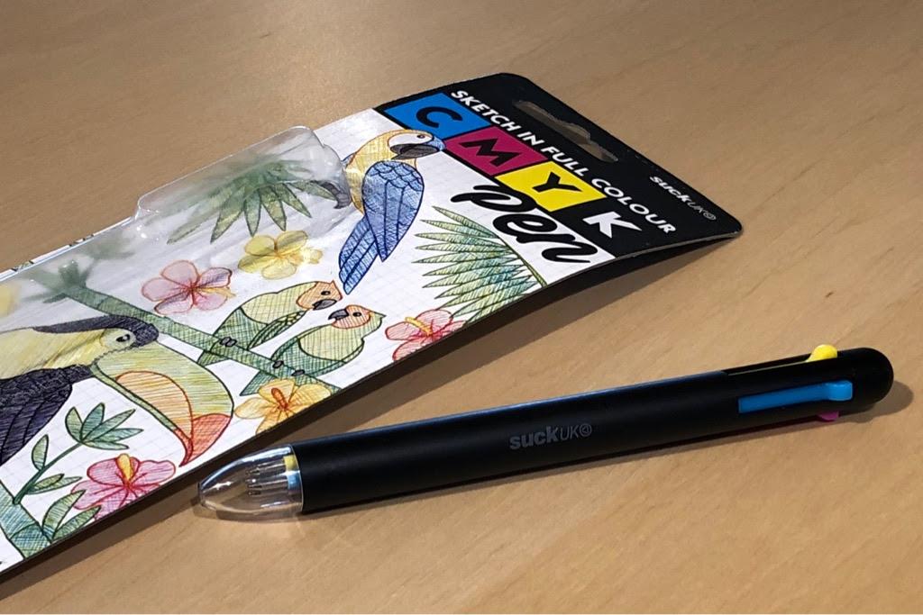 この発想は無かったwwwcmykペンは混色を楽しむ4色ボールペン