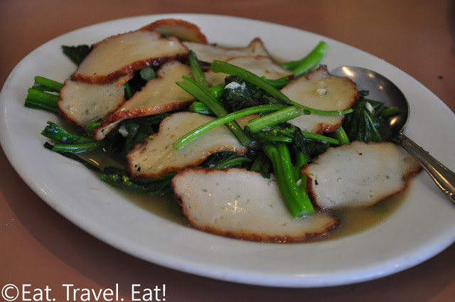 Sauteed Choy Sum with Fishcakes