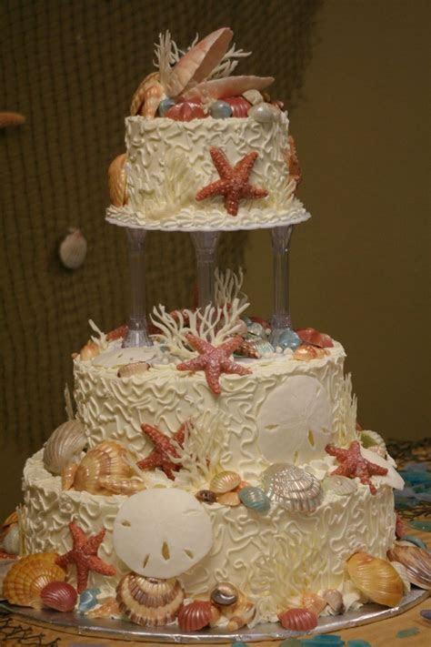 51 best wedding cake images on Pinterest   Beach wedding
