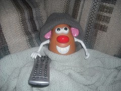 Mr. CouchPotato-Head, staying warm