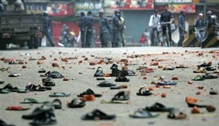 dimostrazioni in Nepal