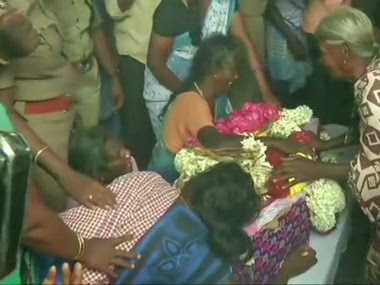 The family of two-year-old Sujith Wilson grieves after his mortal remains were recovered from a borewell in Tamil Nadu. News18