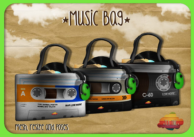 MUSIC BAG *Tea Time* NEW!!! 3 style