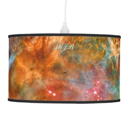 Monogram Carina Nebula in Argo Navis space images Pendant Lamp
