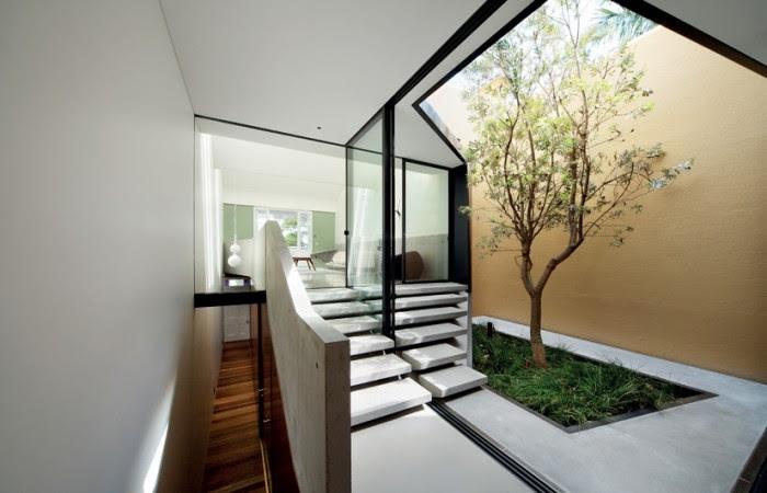 Skylight over indoor courtyard