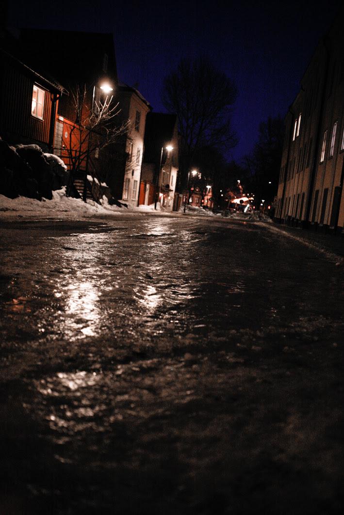 jag ramlar isiga gatan fram
