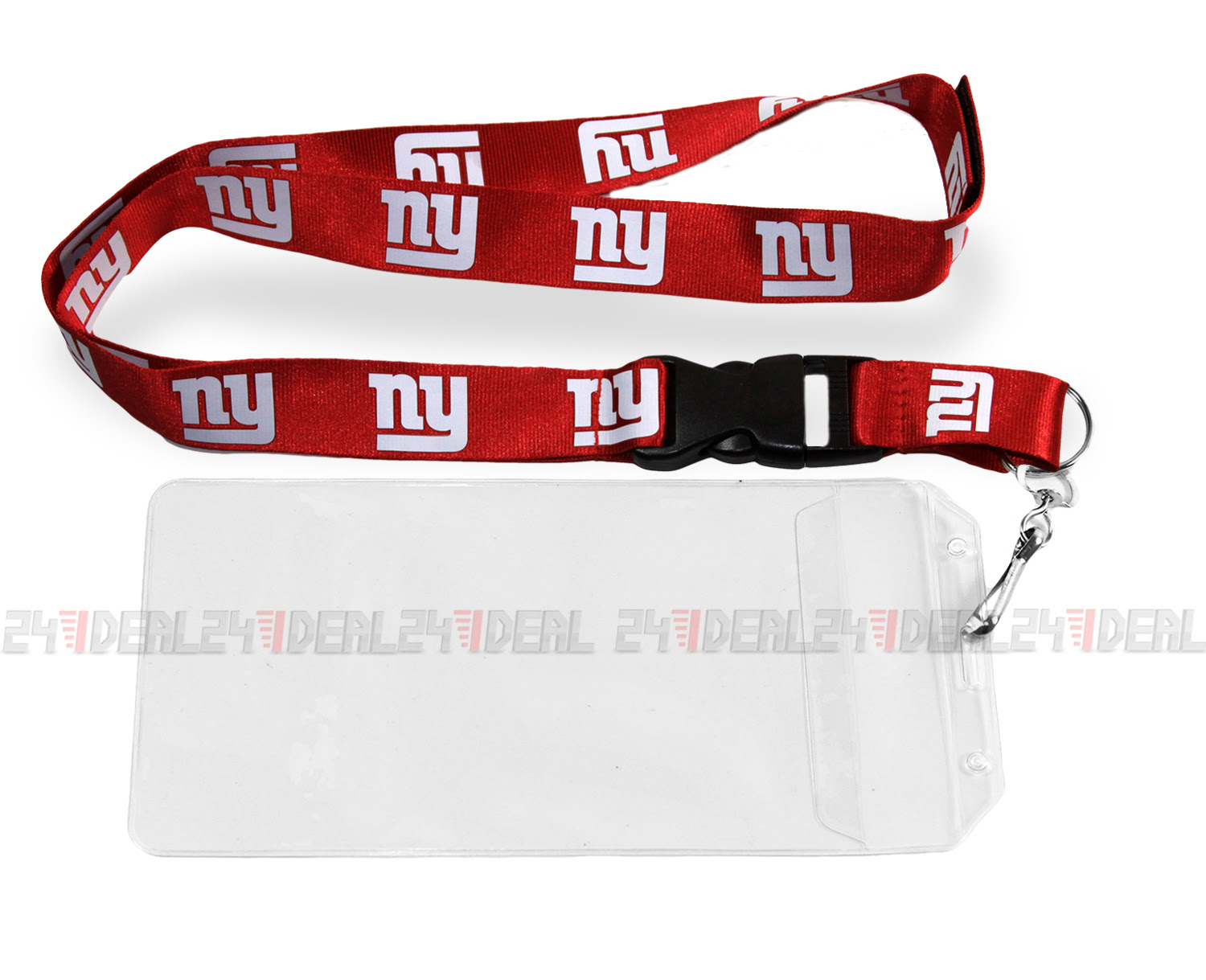 NEW YORK GIANTS NFL BREAKAWAY LANYARD KEYCHAIN or TICKET HOLDER RED  eBay