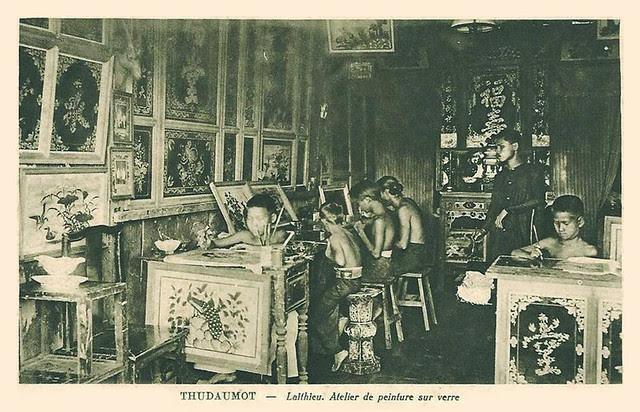 THUDAUMOT - Laithieu. Atelier de peinture sur verre