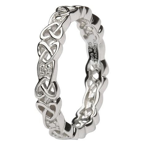 Celtic Rings   Celtic Knot Ring set with Diamonds