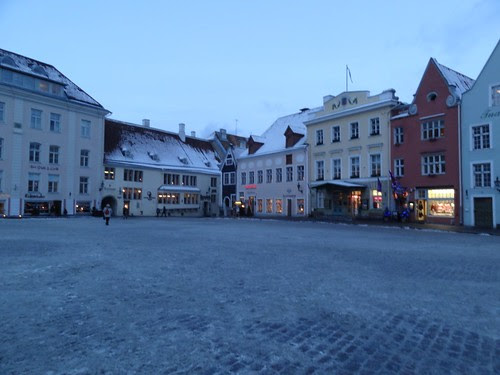 Tallinn Marktplatz im Winter