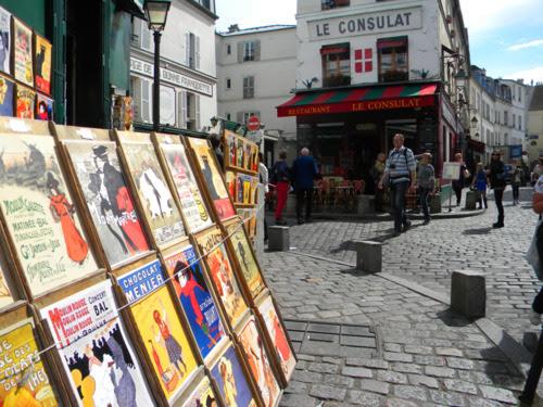 paris sokakları montmartre kendin dik
