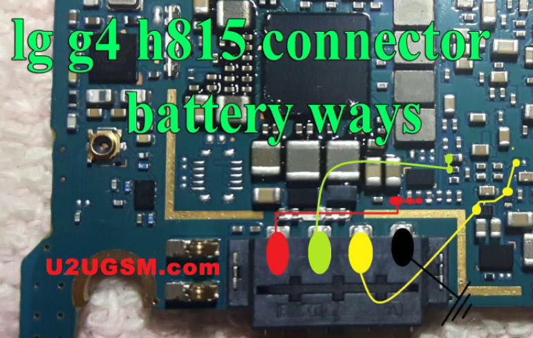 LG G4 H815 Battery Connector Terminal Jumper Ways