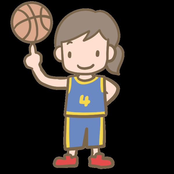 バスケットボール女子のイラスト かわいいフリー素材が無料の
