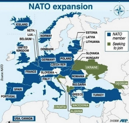 Proof that Russia and Iran Want War: Look How Close They Put Their Countries To Our Military Bases! nato map