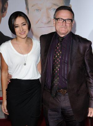 Robin Williams con su hija Zelda.