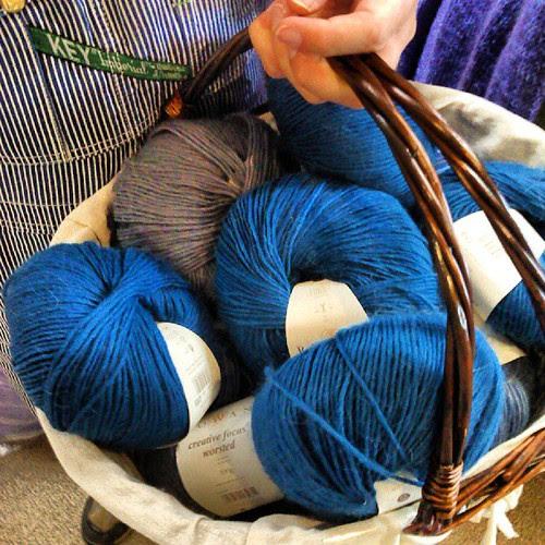 The Wife's yarn haul. Wow!