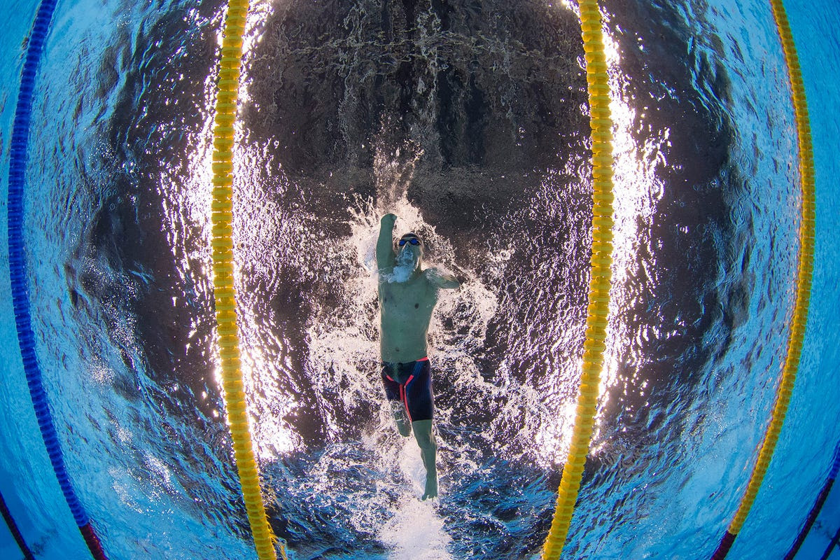 Daniel Dias of Brazil competes in the men's 200-meter freestyle.