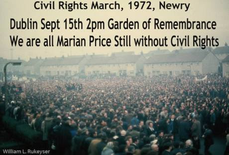 Dublin Sept 15th at 2pm, Garden of Remembrance Free Marian Price