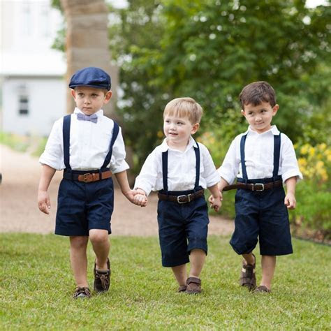 Super cute page boy inspired ring bearers from a Hill