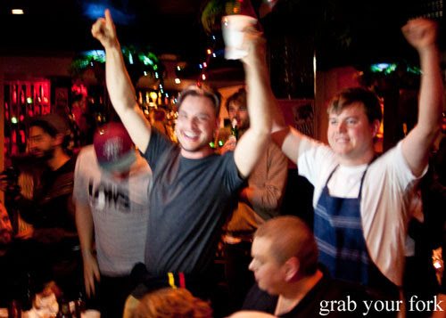 Winner of the Hot Wings eating competition at The Dip, Good God Small Club, Sydney