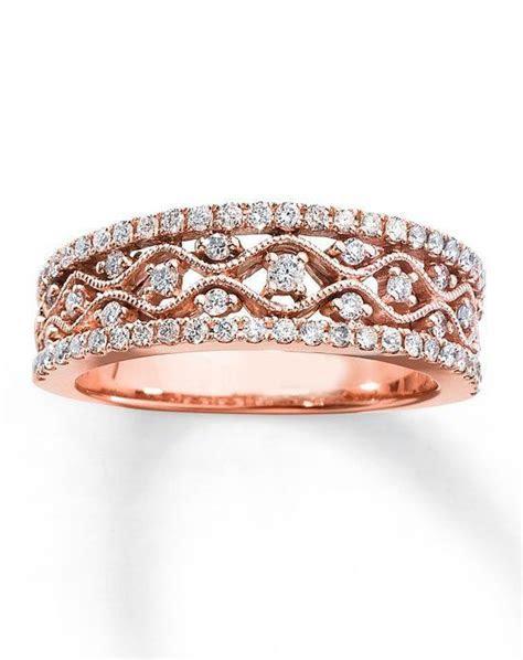 Kay Jewelers Diamond Anniversary Band 10K Rose Gold Round