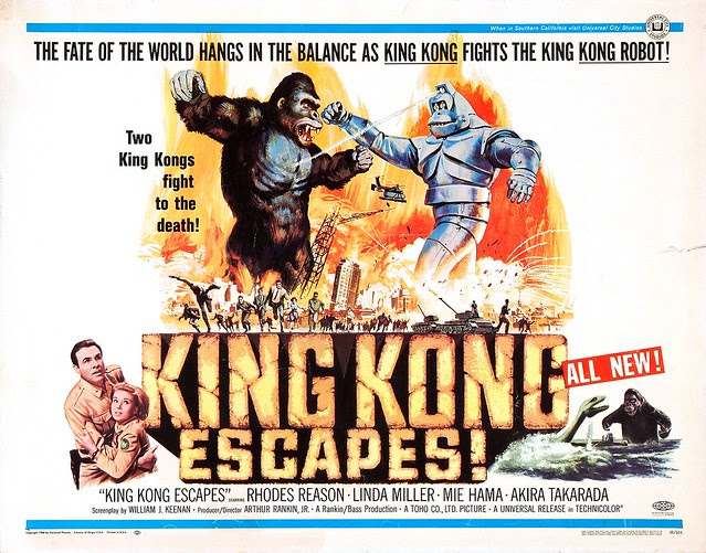 Reynold Brown - King Kong Escapes (Universal, 1968) half sheet