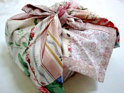 Eco-Friendly Handstitched Vintage Furoshiki Cloth Wrap