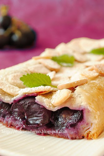 Uva Nera in Pasta Sfoglia-Black Grape in Puff Pastry