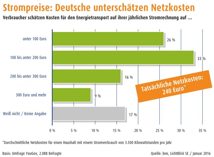 bne, vzbv, LichtBlick SE / Kostenanstieg bei Netzentgelten begrenzen, Transparenz herstellen