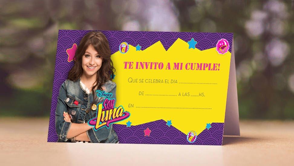 Tarjeta De Invitación Soy Luna Celebrandofiestas Shop