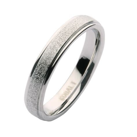 4mm Cobalt Sparkle Wedding Ring Band   Cobalt Rings at