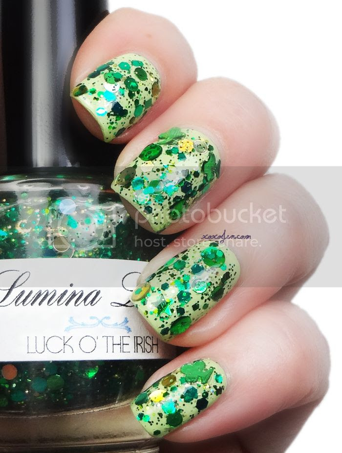xoxoJen's swatch of Lumina Lacquer Luck O' The Irish