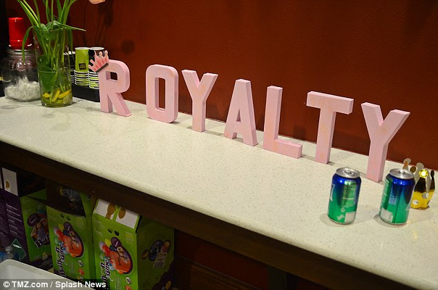 Name picked out in advance: There were no shortage of princess crowns and decorations with the name Royalty