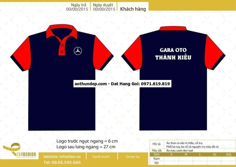 Uy tín, chất lượng, giá cạnh tranh, được tin dùng  Mẫu thiết kế áo thun đồng phục gara ô tô Thành Kiều, thị trấn, Long Hải, Hu