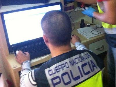 Imagen de la operación cedida por la Policía Nacional.